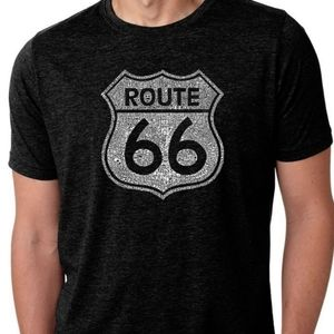 LA Pop NWT major cities along Route 66 graphic tee